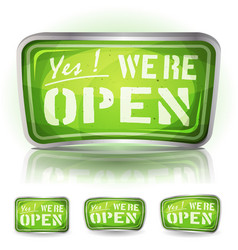 Come in were open sign vector