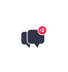 Comment new reply icon on white vector