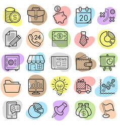 commerce money trendy icon pack eps10 vector image