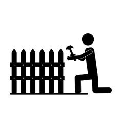 contractor or handy man icon image vector image