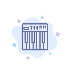 Controller hardware keyboard midi music blue icon vector
