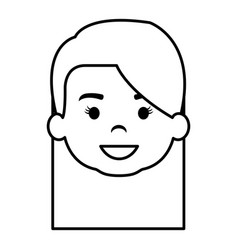 cute and little girl head vector image