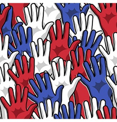 Democracy voting pattern vector