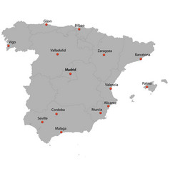 Detailed map of the spain vector