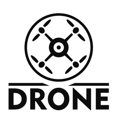 Drone logo simple style vector