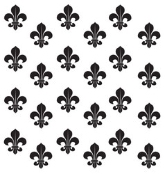 fleur-de-lys seamless background background vector image