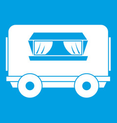 Food trailer icon white vector