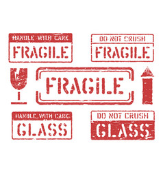 Fragile this way up handle with care do not vector