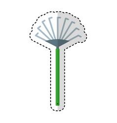 Garden rake isolated icon vector