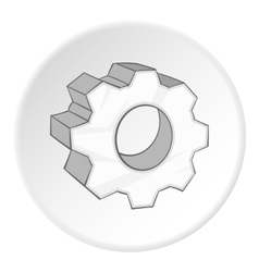 Gear icon cartoon style vector image