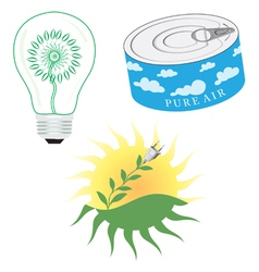 Green Energy Icon Set vector