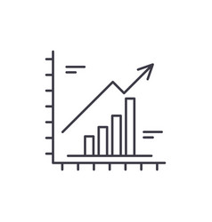 growth chart line icon concept growth chart vector image