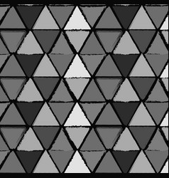 grunge triangles seamless vector image