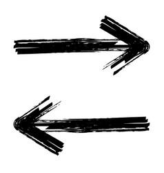 Hand drawn brush arrow vector