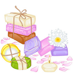 Handmade soap vector