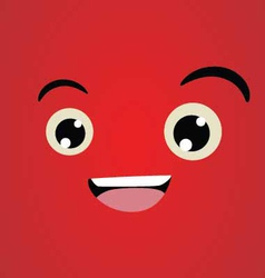 Happy Face Character vector