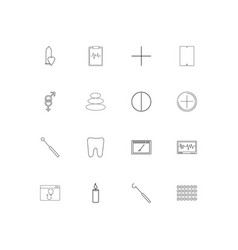 healthcare and medical linear thin icons set vector image