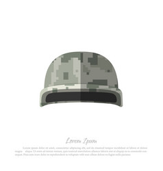 Helmet of soldier military hat with camouflage vector