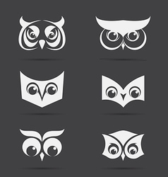 image an owl face design on black background vector image