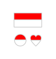 Indonesia flag on a white background vector