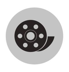 Isolated film reel design vector