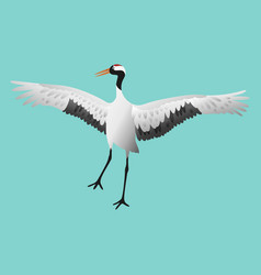 japanese dancing red-crowned crane in different vector image