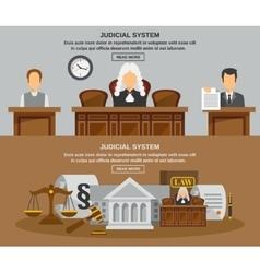 Law Banner Set vector image