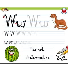 Learn to write letter w vector