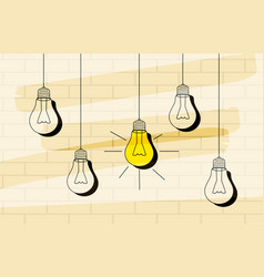 Light bulb icon with concept of idea vector