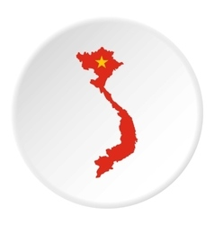 Map of vietnam icon flat style vector