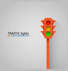 orange traffic light modern background vector image