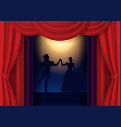 Paper cut theater poster banner template vector