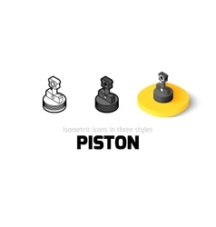 Piston icon in different style vector