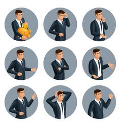 qualitative isometry 3d avatar business men vector image