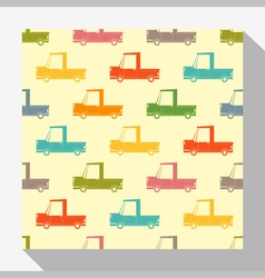 Retro seamless pattern collection with car 4 vector image