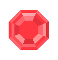 Ruby jewelry related icon flat design vector
