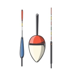Set of fishing floats vector image