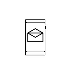 Smartphone mail icon vector