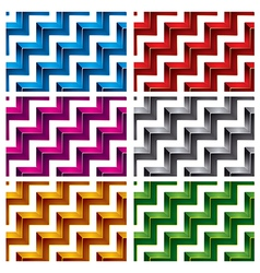 Steps seamless pattern vector