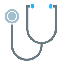 stethoscope isolated icon medicine and cardiology vector image