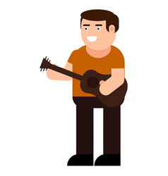 the musician plays the guitar icon vector image
