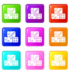 three dice cubes set 9 vector image