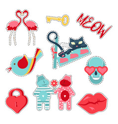 Trendy patches badges vector