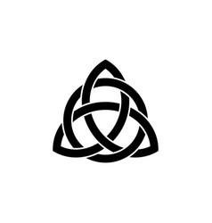 triquetra symbol icon vector image