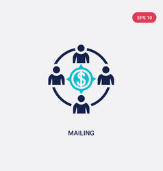 Two color mailing icon from crowdfunding concept vector
