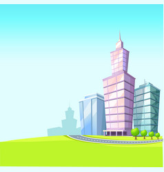 urban landscape with skyscrapers vector image