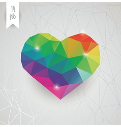 Valentines day card geometric triangle pattern vector image