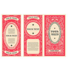 Vintage banner template design elements vector