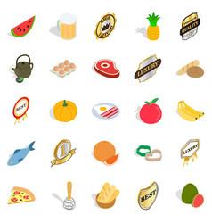 Vitamine icons set isometric style vector
