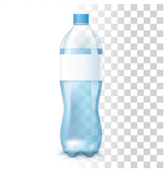water in the plastic bottle vector image